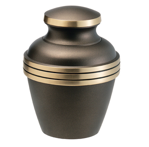 Grey and golden color urn
