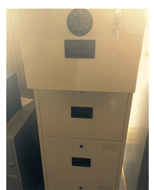 Askwith Safe Company lion 2nd hand 4 drawer filing cabinet