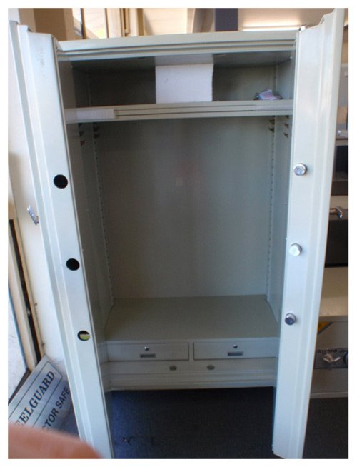 Askwith Safe Company mutual fire cabinet 2 door large