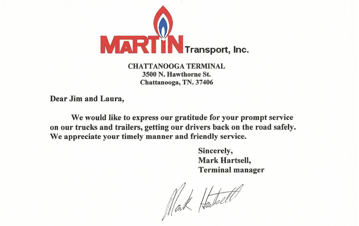 Truck and Trailers Repair Testimonial