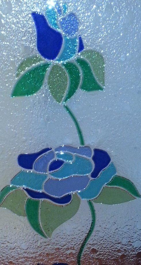 rosa in vetro fusione