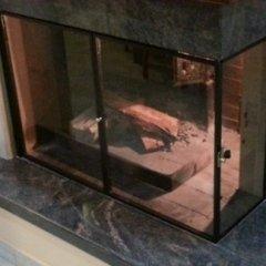 caminetto copertura vetro