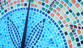 Orologio con mosaico
