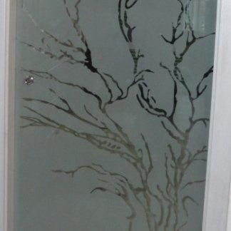 decorazione vetro porta blindata