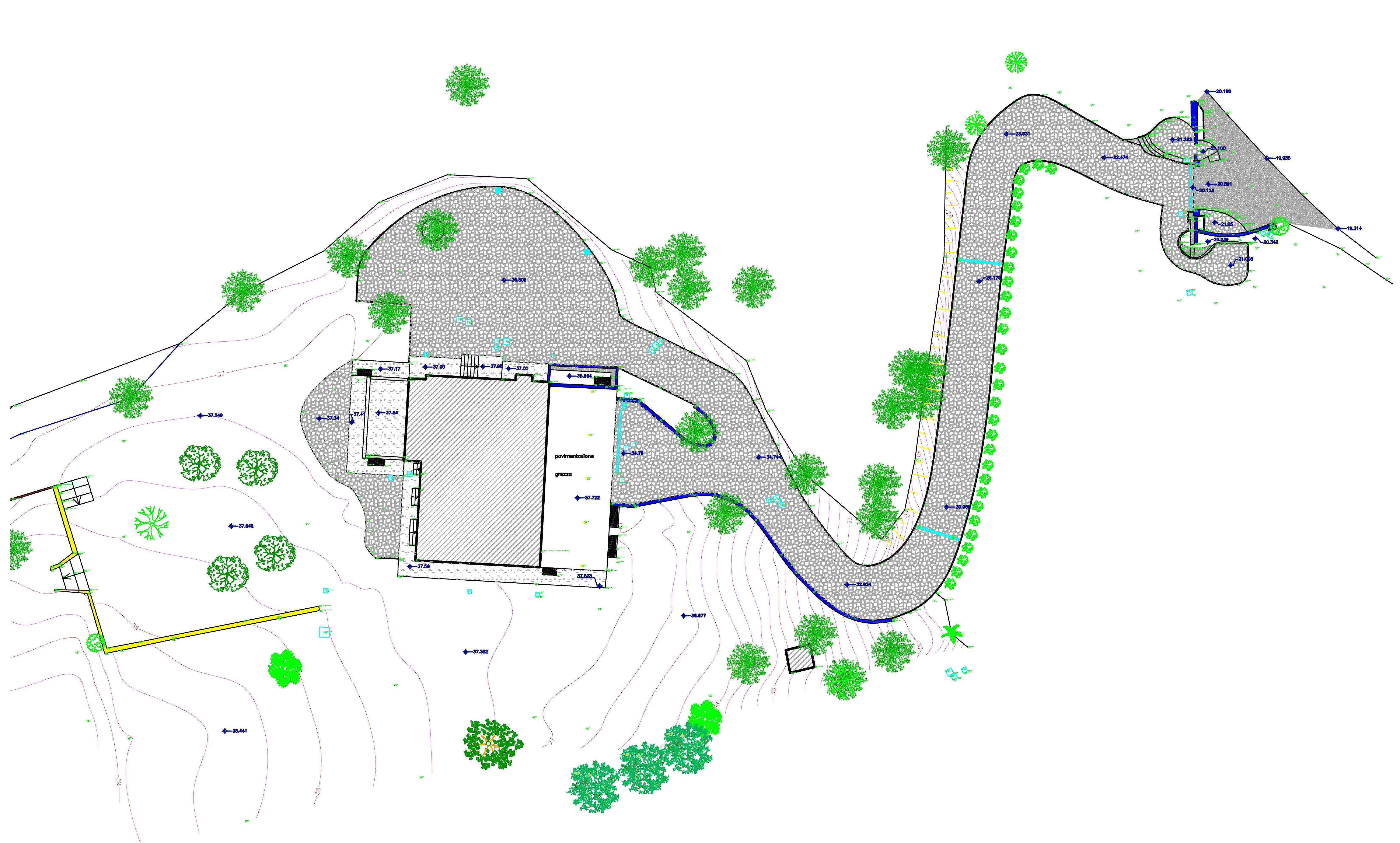 rilievo topografico di giardini
