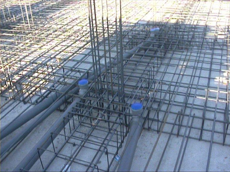 Fondamenta in acciaio di una struttura