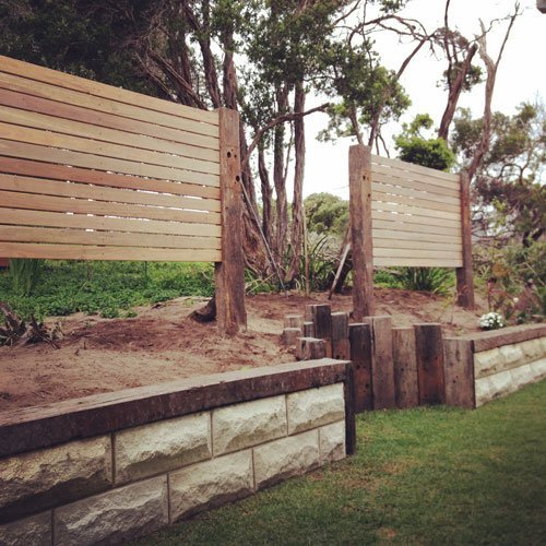stone retaining wall by Webber Landscapes