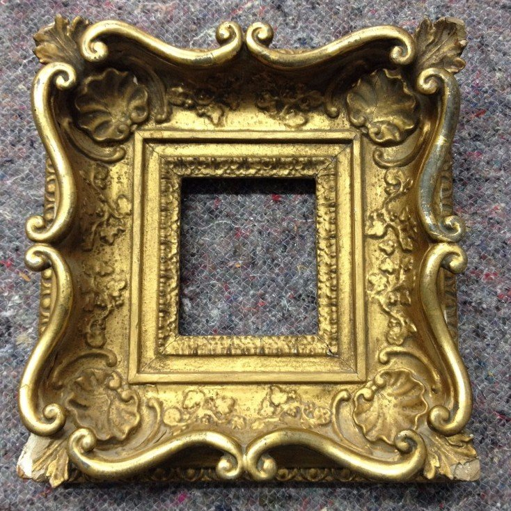 19th century swept Louis XV style miniature frame.