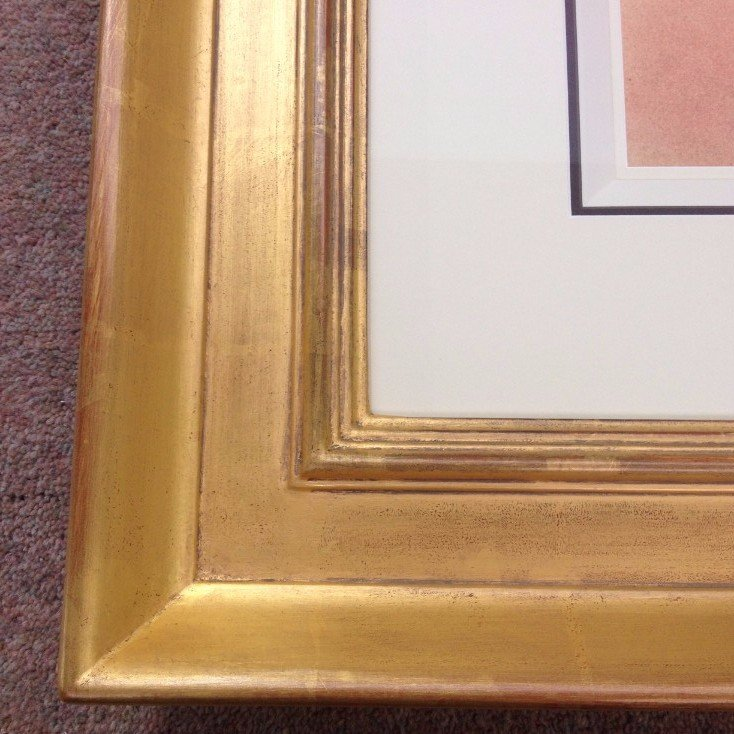 water gilded water gilding picture frame museum mount