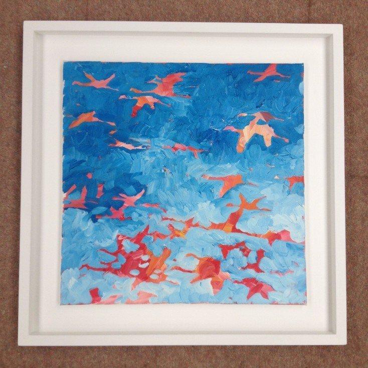 Jeremy Houghton artist original paintings flamingos