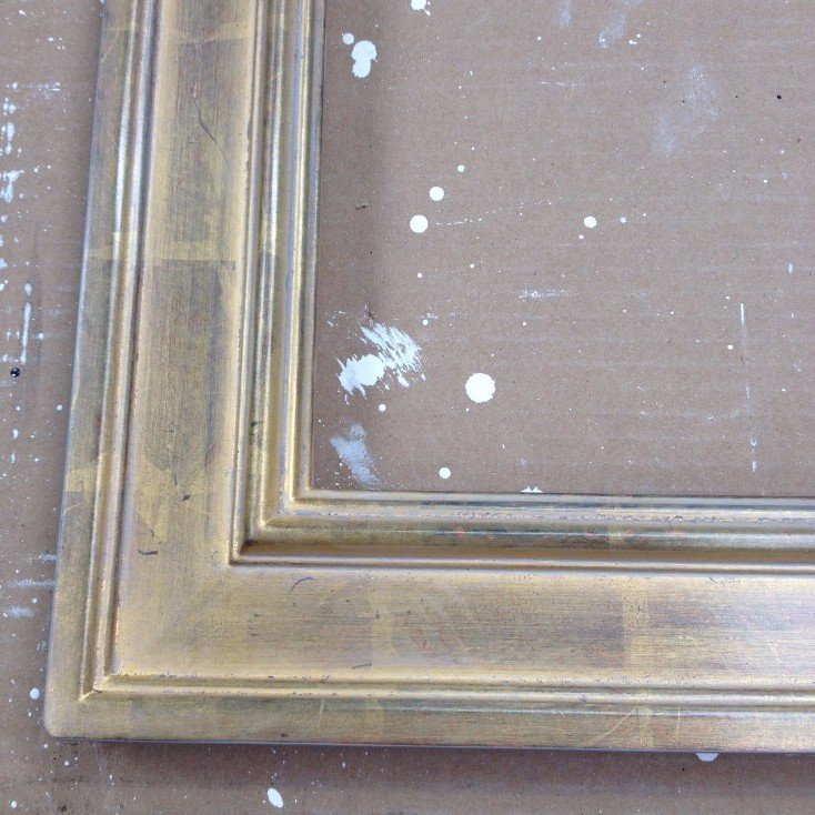 gold leaf distressed picture frame