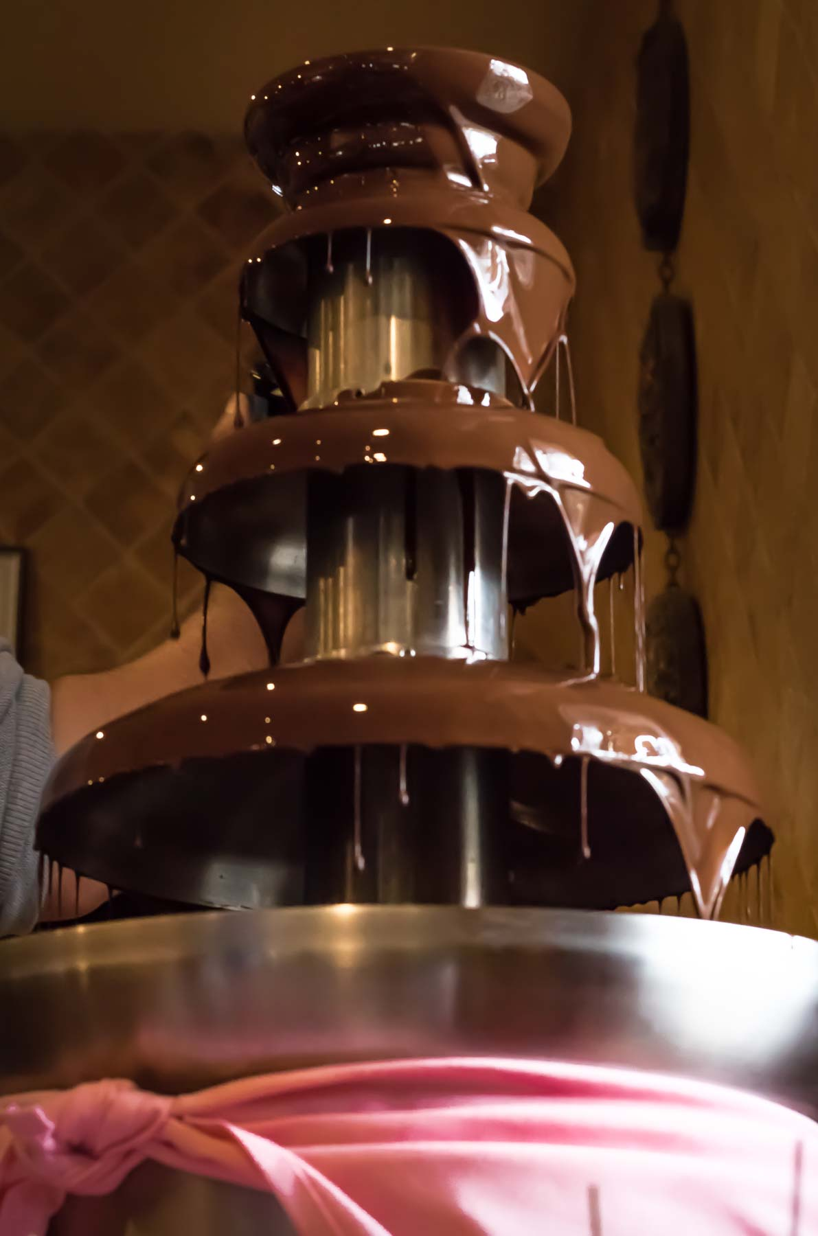 Ciao Ristorante chocolate fountain for catering events