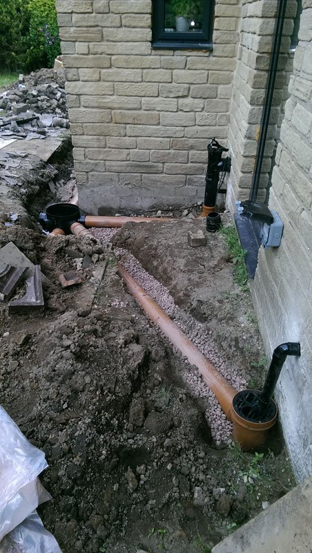 new drain lining fixing