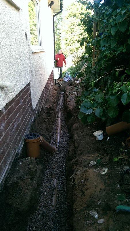 custom drain pipe installation