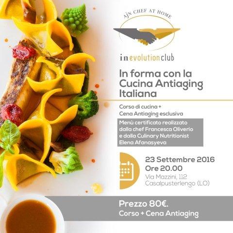 CORSO DI CUCINA & CENA ANTIAGING