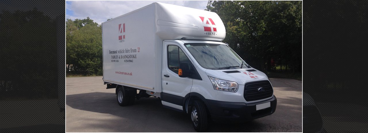 One of our vans available for hire
