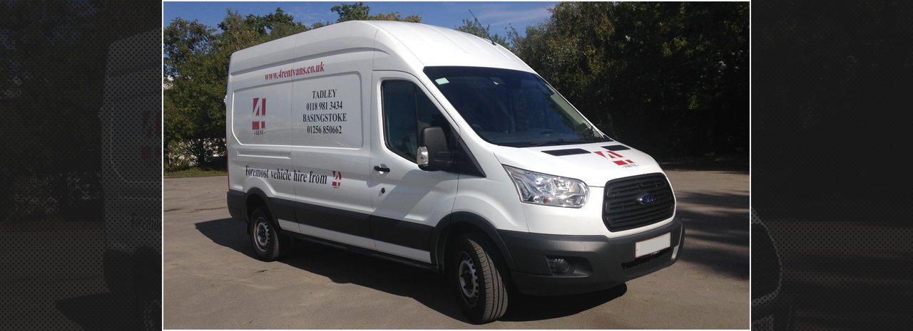One of our larger vans ready for you to hire