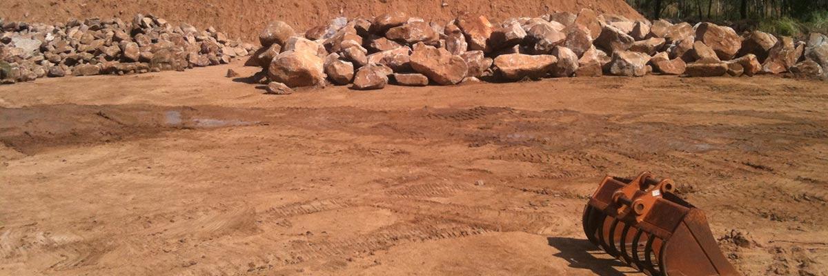 rayment excavations granite rocks