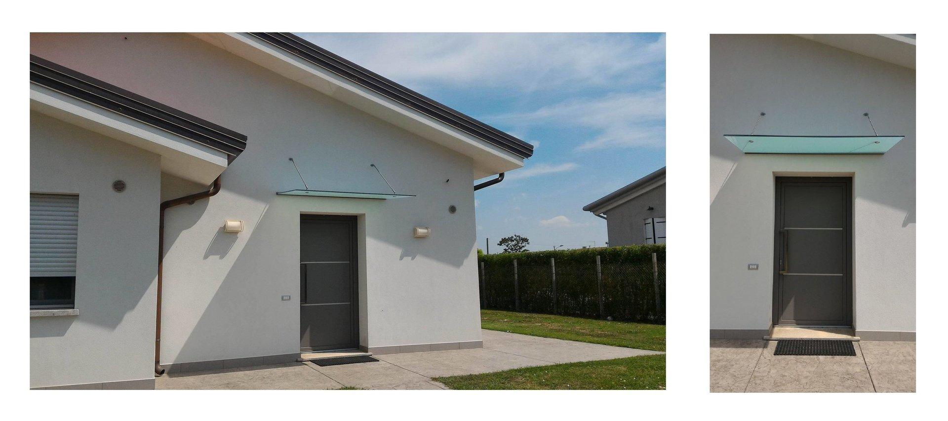 esterno di una casa con tettoia