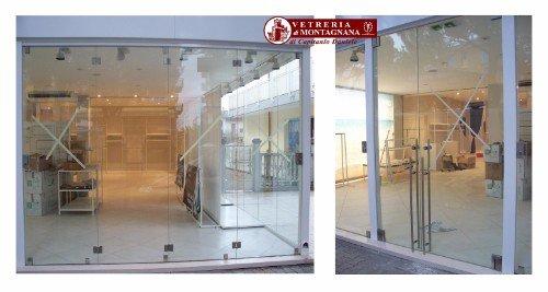 sanza con pareti in vetro