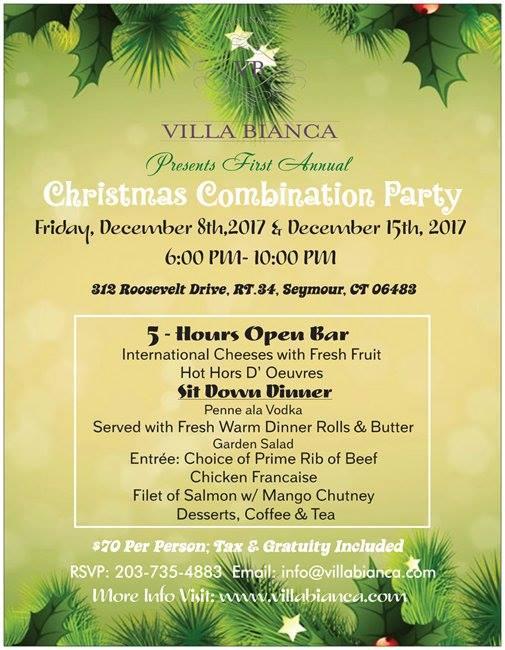 Villa Bianca Christmas Combination party