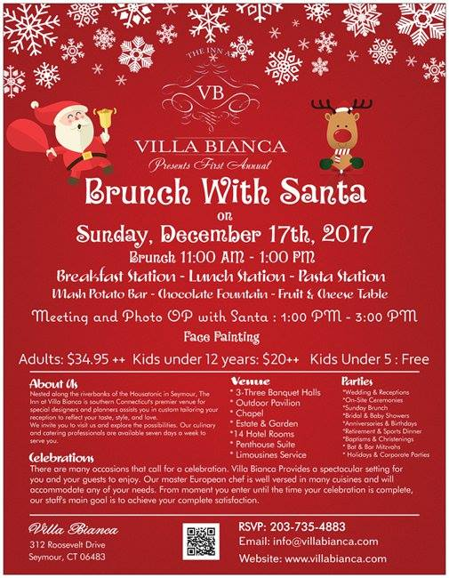Brunch with Santa at Villa Bianca
