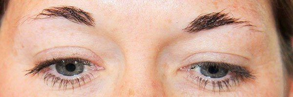 Permanent Makeup Clinic - Before Microblading Eyebrows