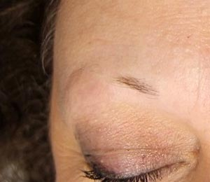 Before Microblading at Beyond Beauty Cedar Falls IA