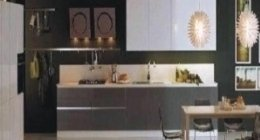 cucina grigio e bianca