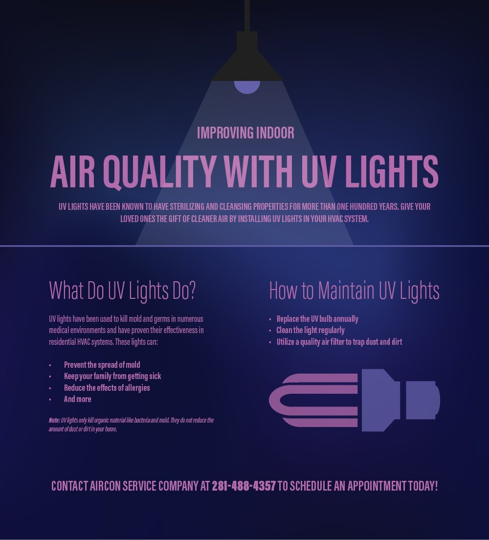 How UV Lights Improve Indoor Air Quality | AirCon Service Company