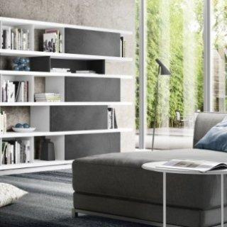 arredo soggiorno grigio