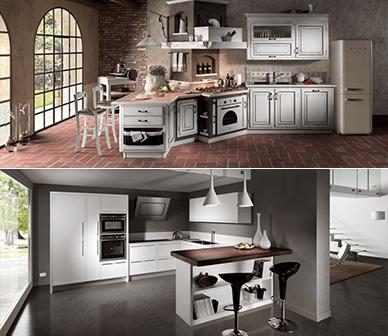 cucine classiche, cucine moderne