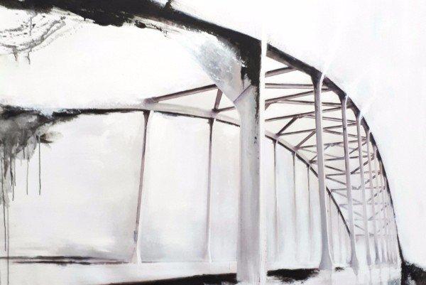 Roos Eelman, Ponte, Brug, Chiaroscuro, zwart wit, contemporary art,  kunst, abstract