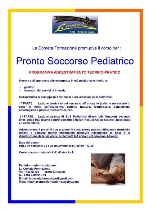 Corso di Pronto Soccorso Pediatrico