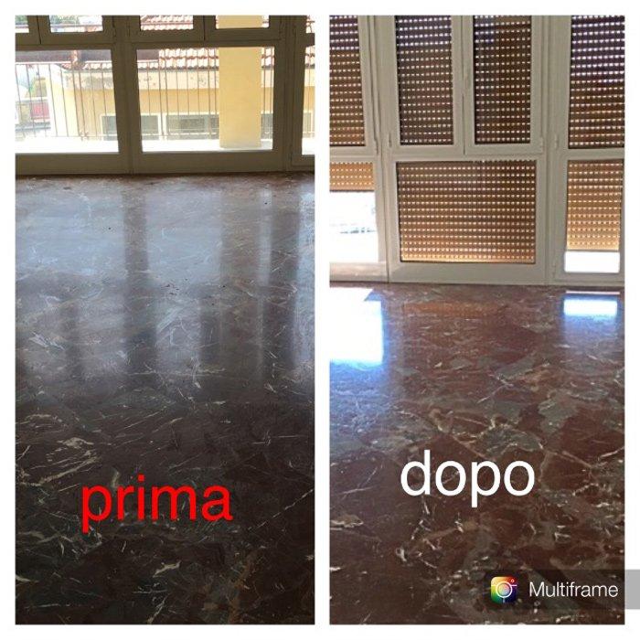 pavimento prima e dopo