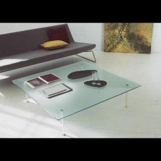 tavolo in cristallo satinato