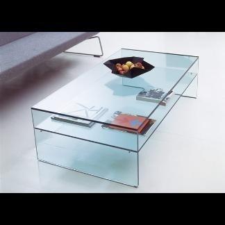 scrivania in vetro con vano