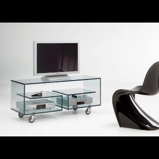 porta tv in cristallo
