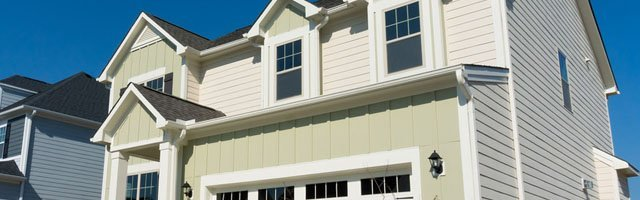 Luxury homes with siding window