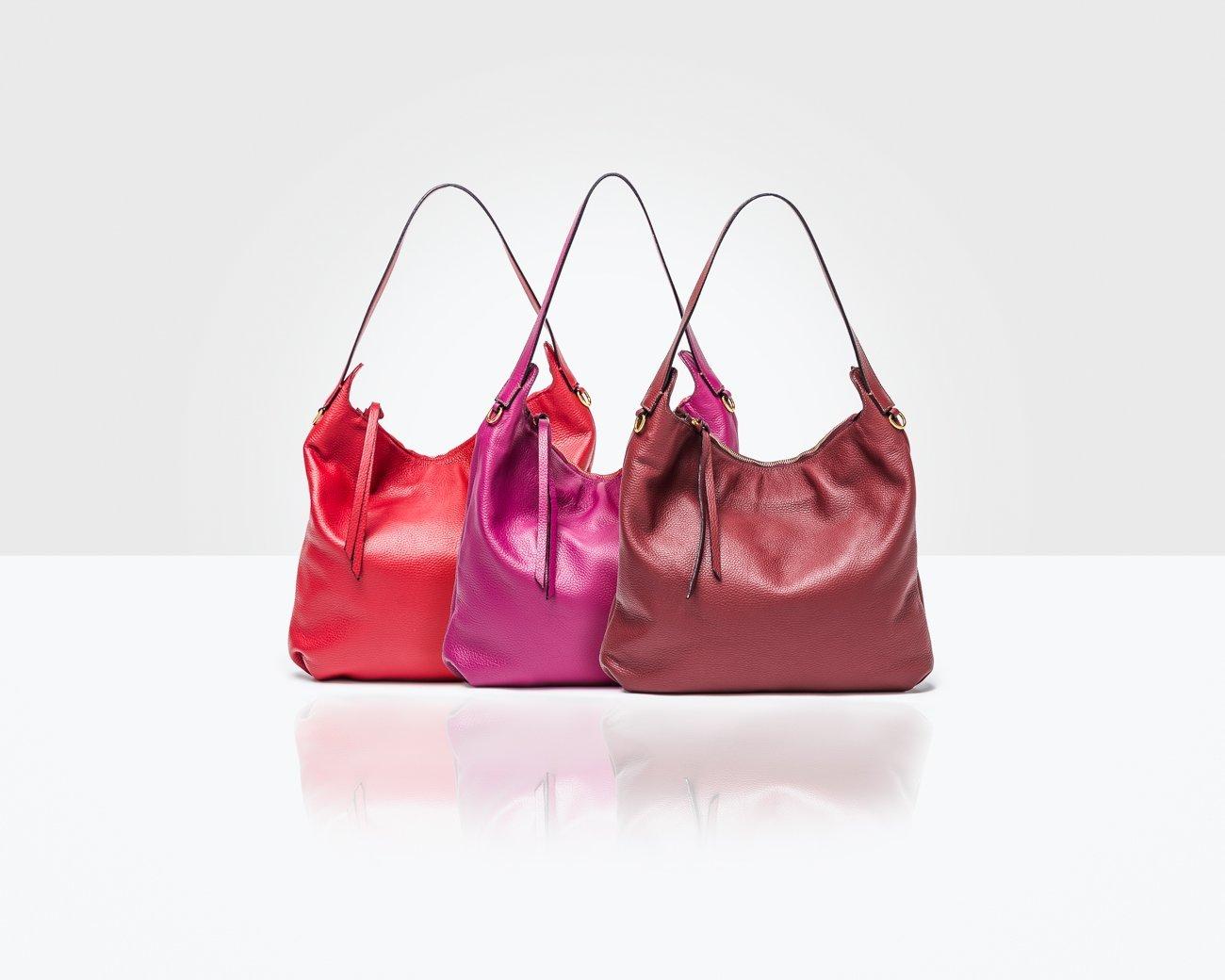 gamma di borse in pelle