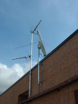 una parabola su un tetto