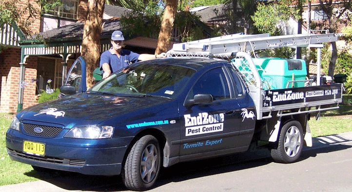 Endzone pest control vehicle