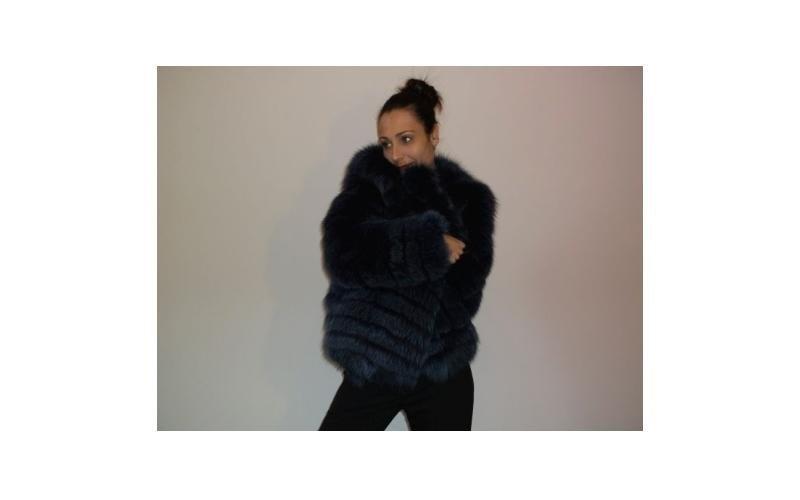 giacca di volpe blu