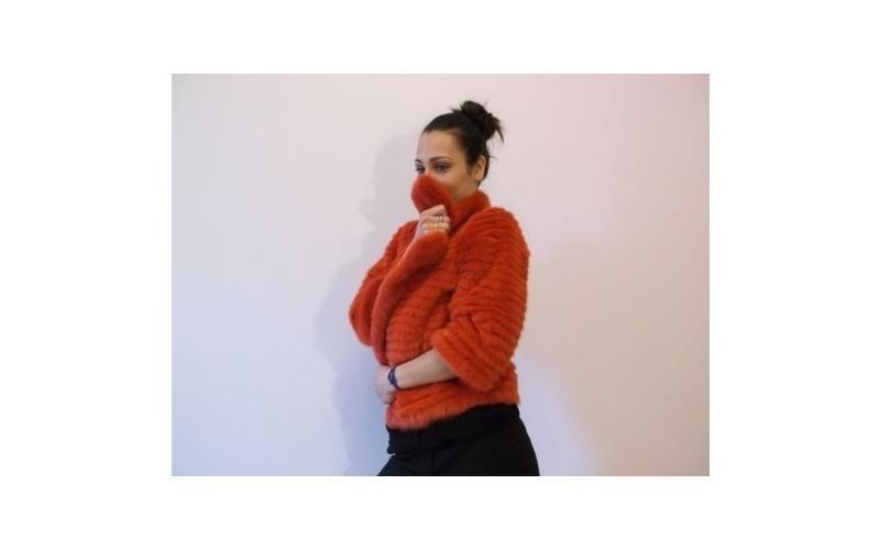 pelliccia arancione