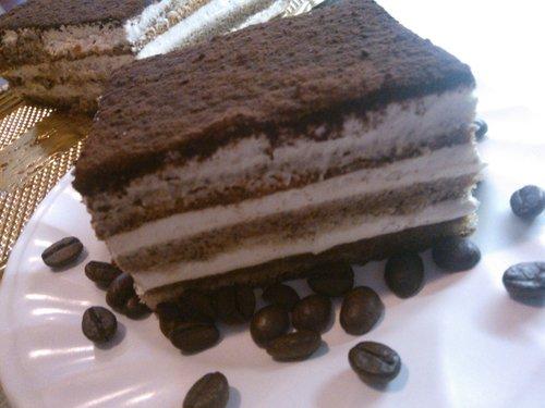 cioccolato dessert con chicchi di caffè