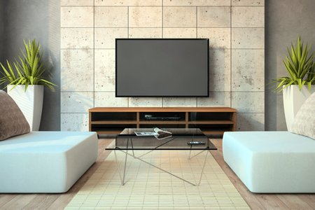 wall mounted flat screen television