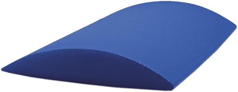 Cuneo lombare per Pilates, rivestito di tessuto sintetico