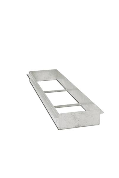 Cassetta in acciaio zincato per asse di battuta