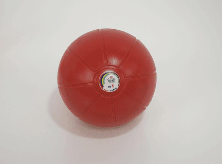Palla medica di gomma colorata