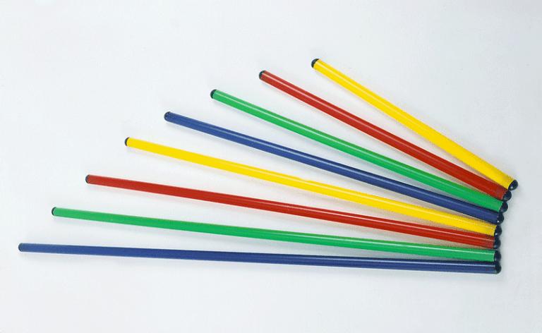 Bastone di PVC colorato